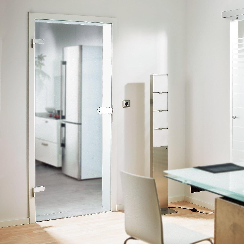 inova Glas-Dreht/ür abschlie/ßbar PZ-Beschlag f/ür Studio-Bohrungen Komplett-Set 834x1972x8 mm Echt-Glas Zimmer-T/ür