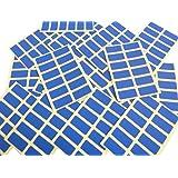 200 étiquettes, 25X12mm rectangle, bleu roi, Couleur Code autocollants, auto-adhésif en couleur étiquettes