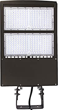 300W LED Shoebox Parking Lot Lights with Direct Arms Mount 5000K LED Area Lights
