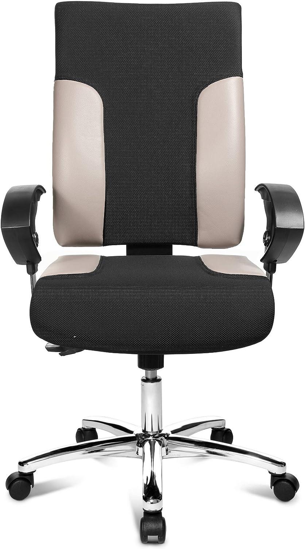 Topstar TF29US130 Bürostuhl Two 20 Deluxe mit höhenverstellbaren Armlehnen U2 OPA, Stoffbezug schwarz / grau