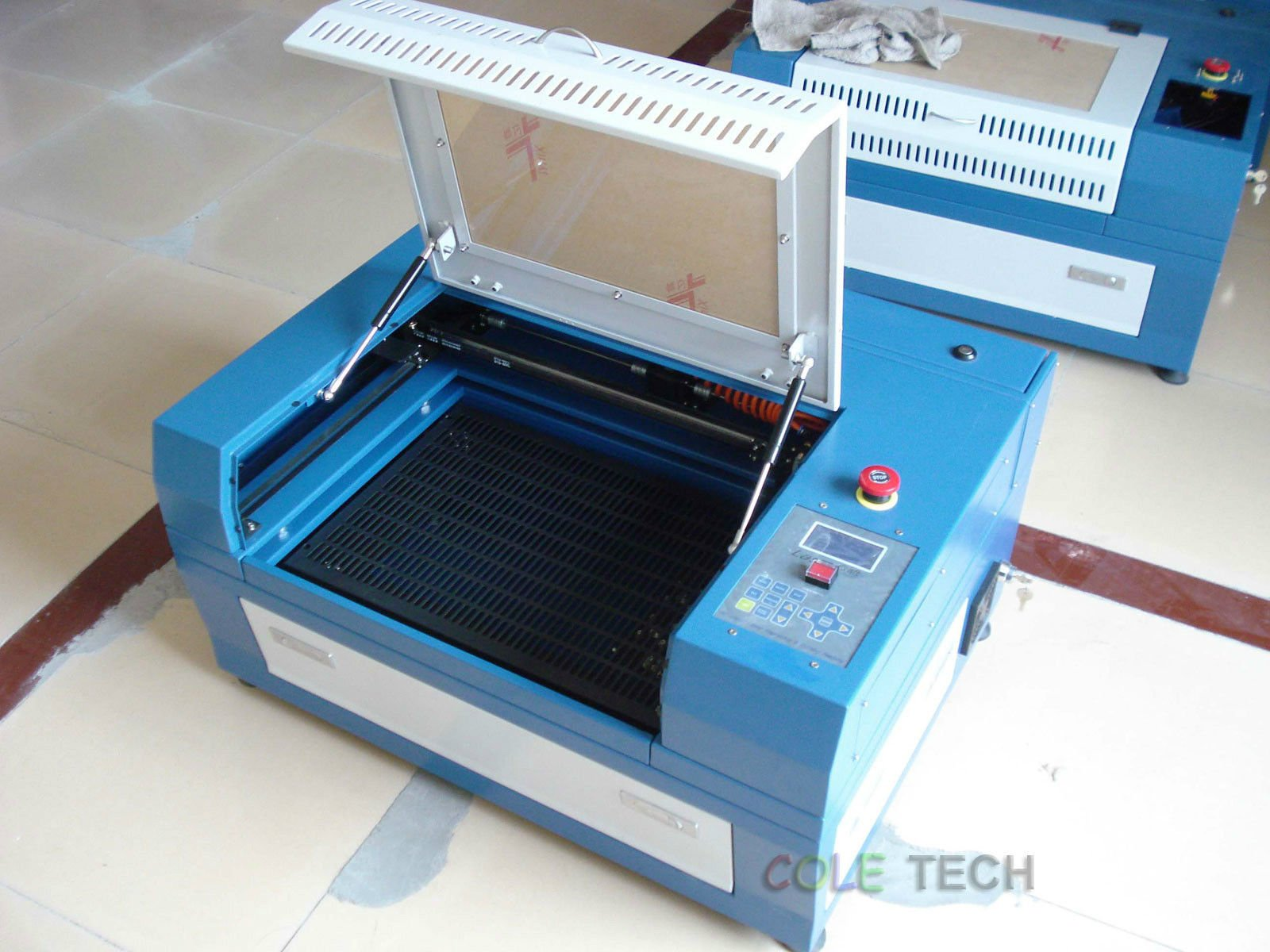 50w CO2 Laser Engraver+Rotary+Honeycomb table by air express 5-7days delivery by Cole