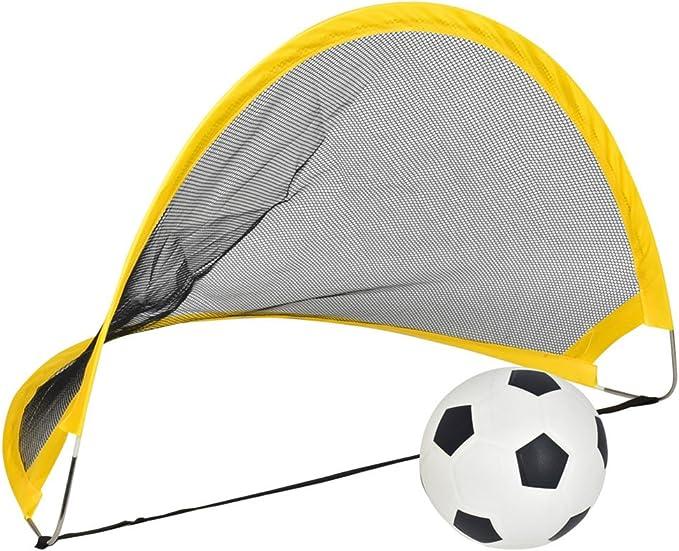 Ocamo Porter/ía de f/útbol port/átil y plegable para Entrenamiento de f/útbol,Partido de f/útbol al aire libre 65cm para Ni/ños