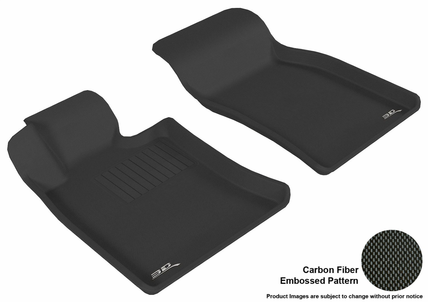 3D MAXpider Front Row Custom Fit All-Weather Floor Mat for Select MINI Models L1MN00211509 Black Kagu Rubber