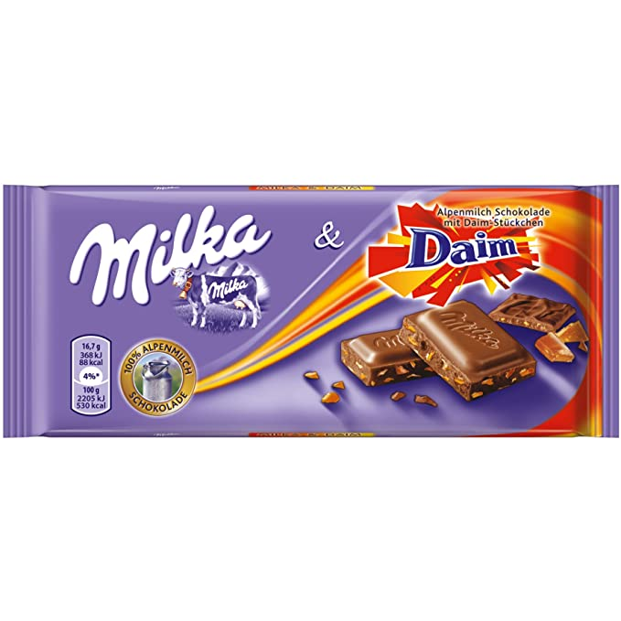 Chocolate Milka Daim | Chocolate con Daim Caramel | 100gr / 3.5oz