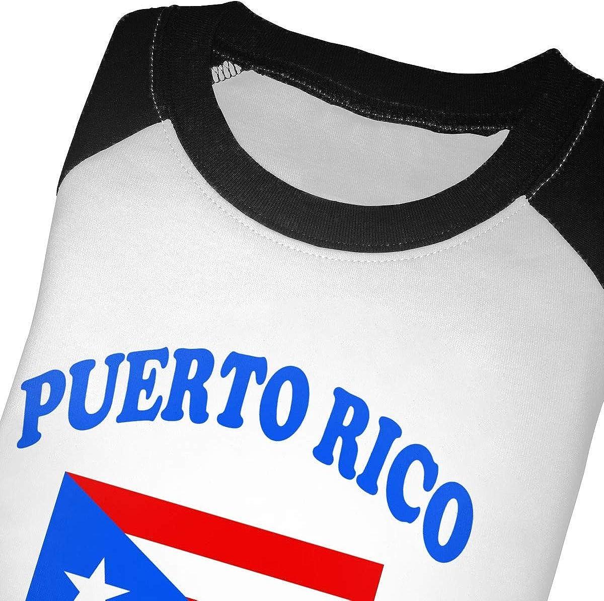 Boys Girls Kids /& Toddler Flag of Puerto Rico Long Sleeve T-Shirt 100/% Cotton