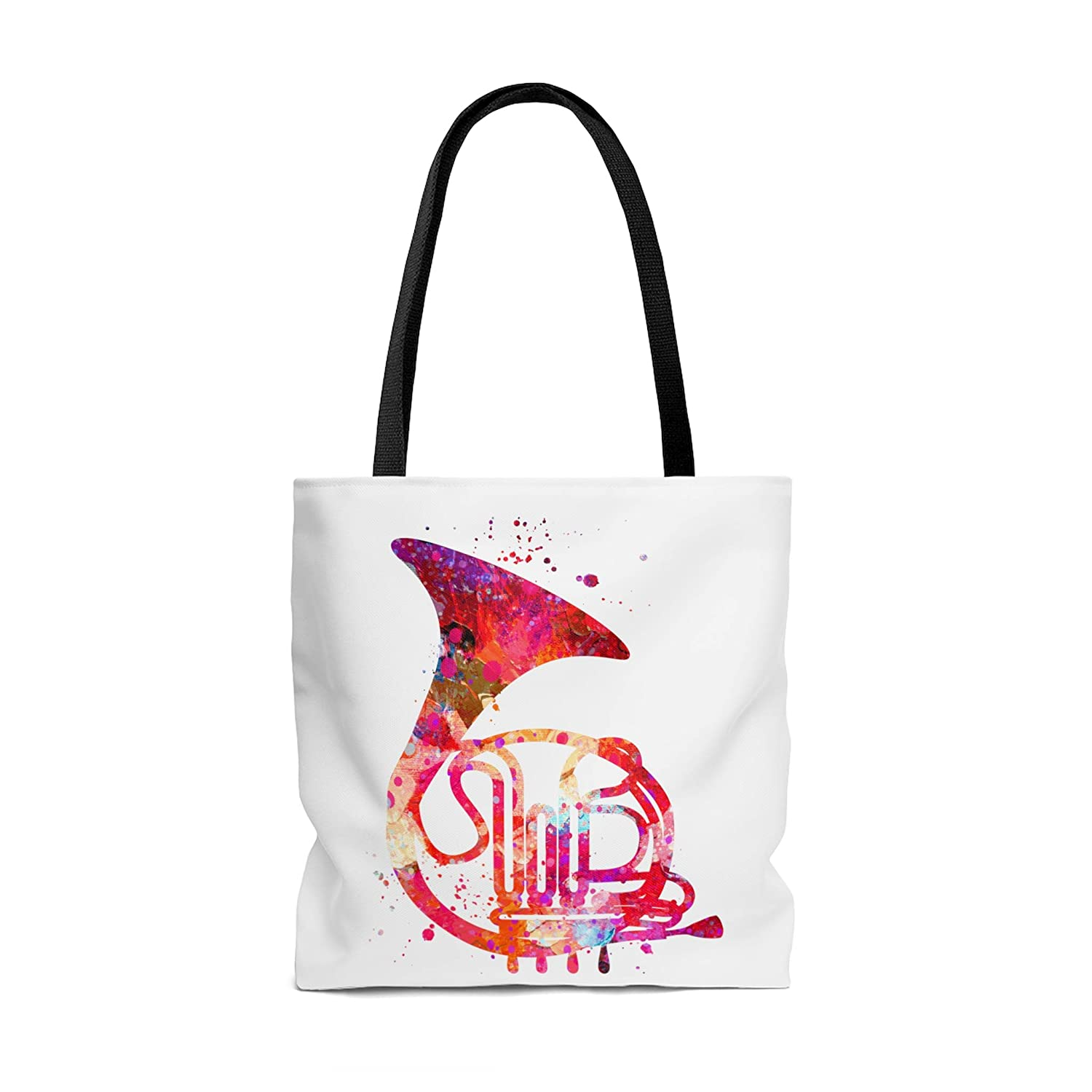 Amazon.com: Watercolor French Horn Tote Bag, Books Bag ...