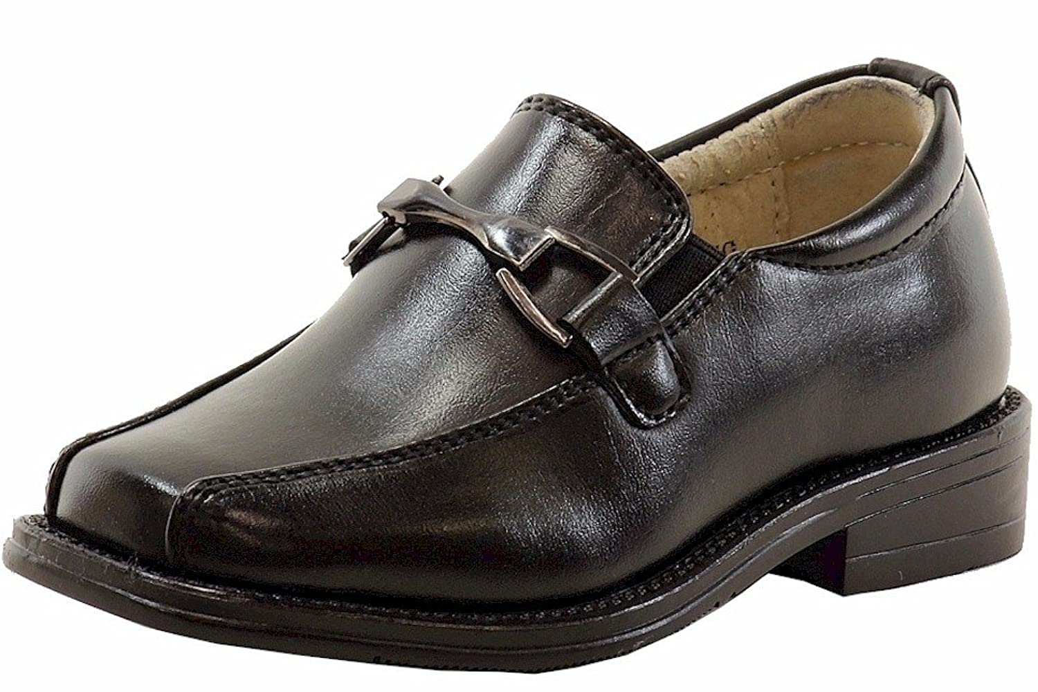 15f946baaf2 Amazon.com  Easy Strider Boy s The Classic Loafer Black School Uniform Loafers  Shoes  Clothing