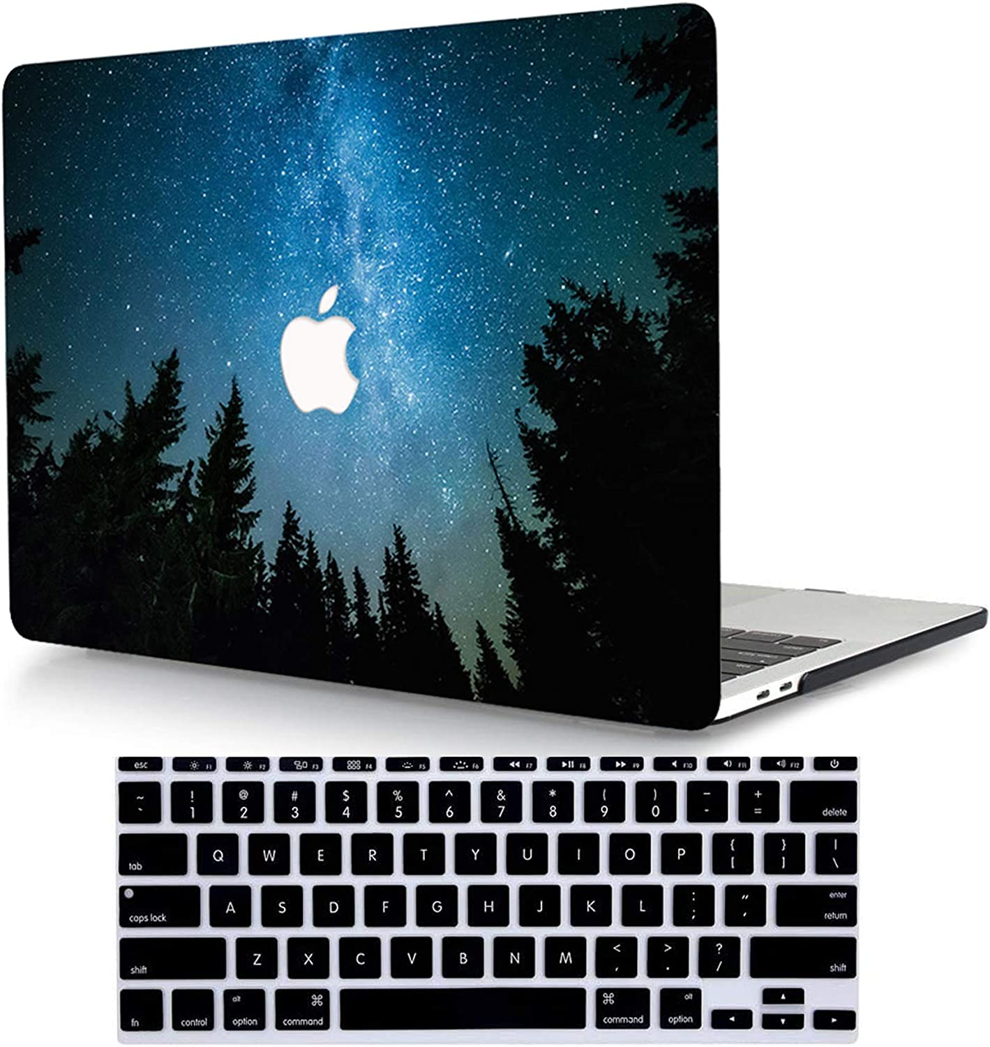 ACJYX Case Compatible with MacBook Pro 15 inch with Retina Display (Model A1398, Older Version 2015 2014 2013 end 2012 Release), Plastic Hard Shell Case & Keyboard Cover Skin, Blue Starry Sky 1