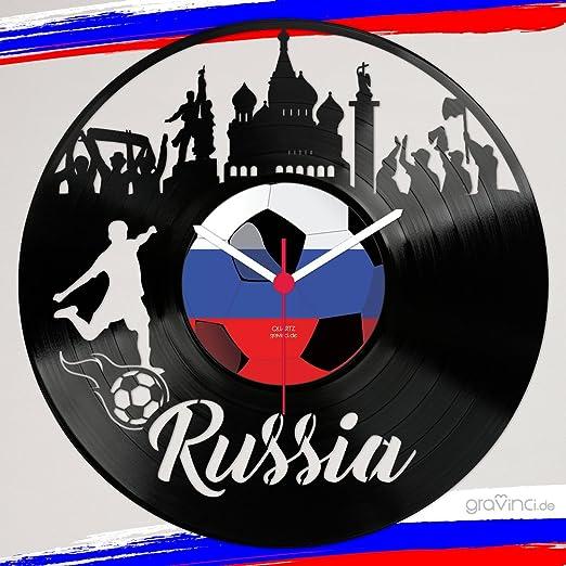 gravinci. de vinilos de Pared Reloj Rusia Fan Tocadiscos Reloj ...