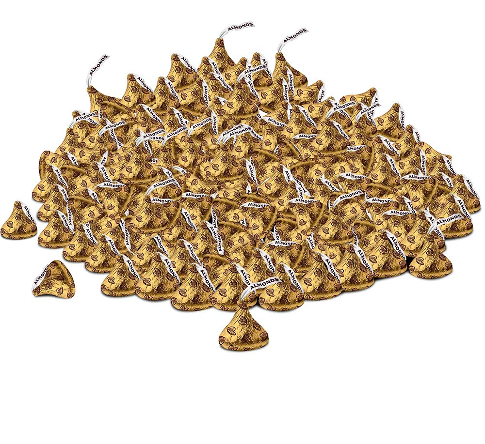 Hershey Kisses Creamy Milk Chocolate Gold Wrapping With Almonds 2 Pounds