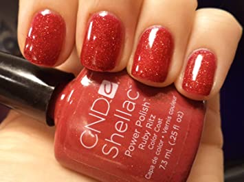 CND Shellac Nail Polish Ruby Ritz