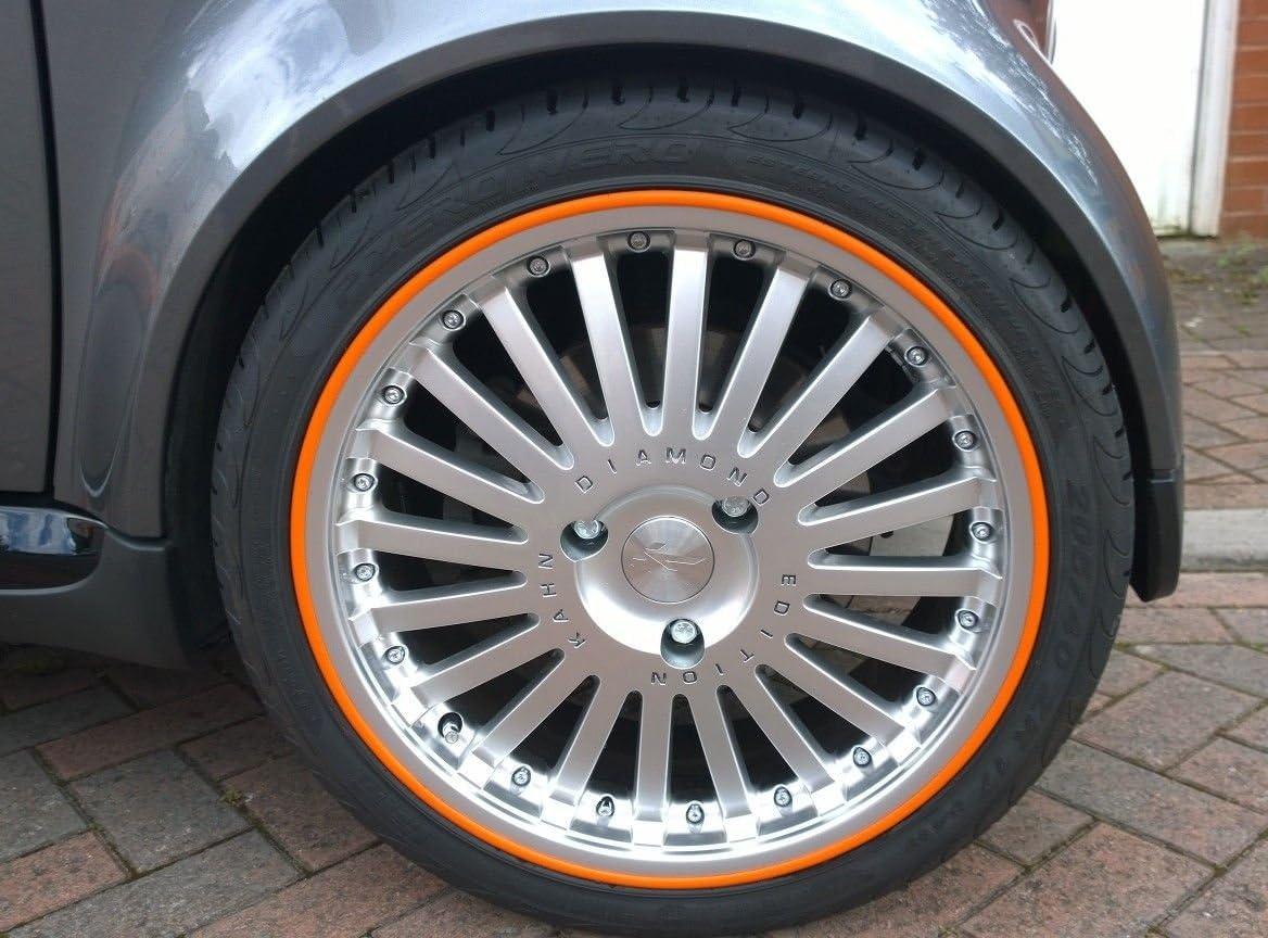 Scuffs By Rimblades Felgenschutz Styling Felgenschutzring Alu Felgen Ringe Felgenstyling Rim Protector Guard Ringz Orange Auto
