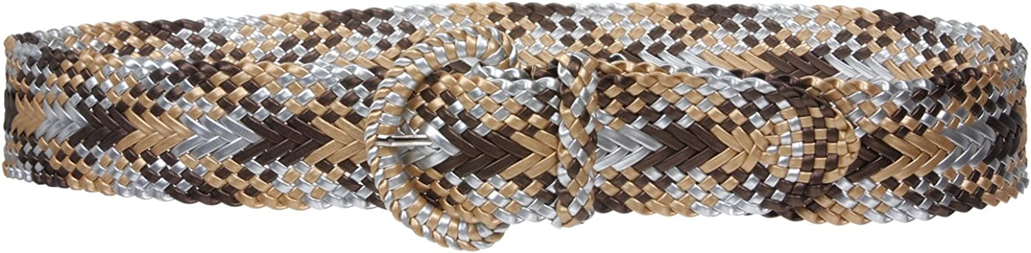 2 Inch Wide Hand Made Combo Color Woven Braided Round Belt