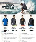 TSLA TM-MSS01-KKW_Large Men's UPF 50+Swim Shirt