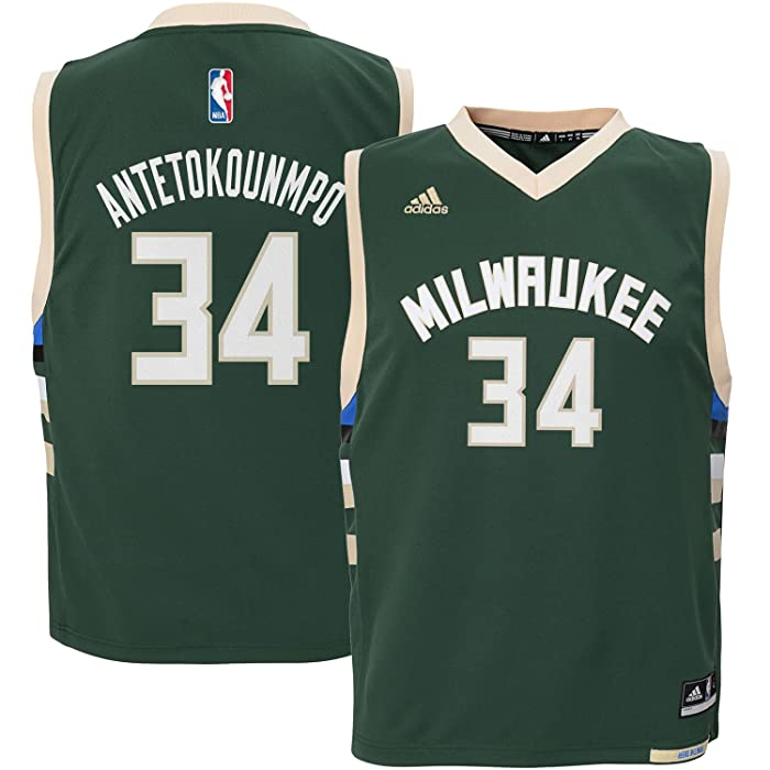 Description. Put your little guy s Milwaukee Bucks pride on his display  when he sports this trendy Giannis Antetokounmpo Replica Jersey from adidas. 7fdb65407