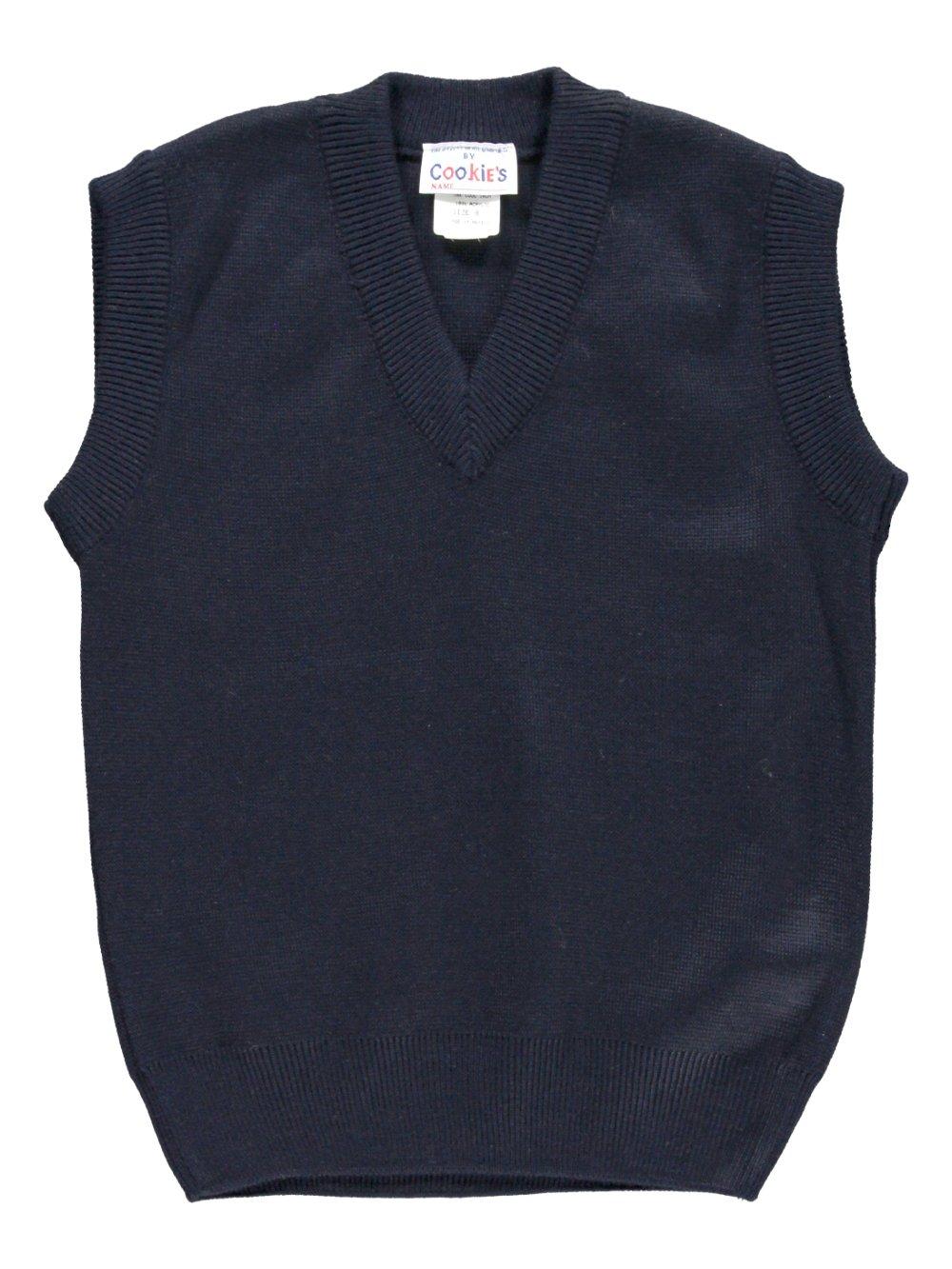Cookie's Brand V-Neck Unisex Sweater Vest - navy, 8