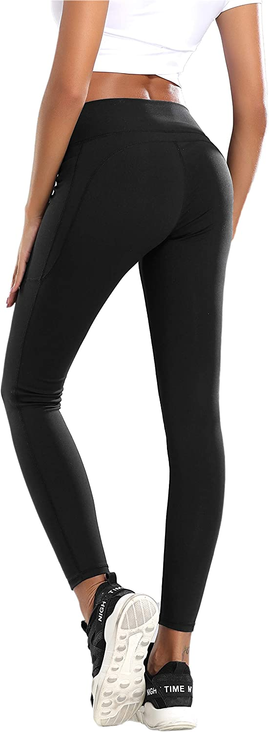 QueenDer Leggins Fitness Mujer Deporte Leggings Largo Pantalones Cintura Alta Corto Polainas Mallas para Yoga Running Cycling y Pilates