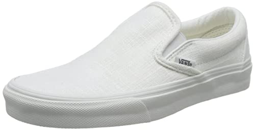 e96e2f8256cd2f Vans Classic Slip On Hemp Linen Blanc de Blanc Sneakers (6 Mens 7.5 ...