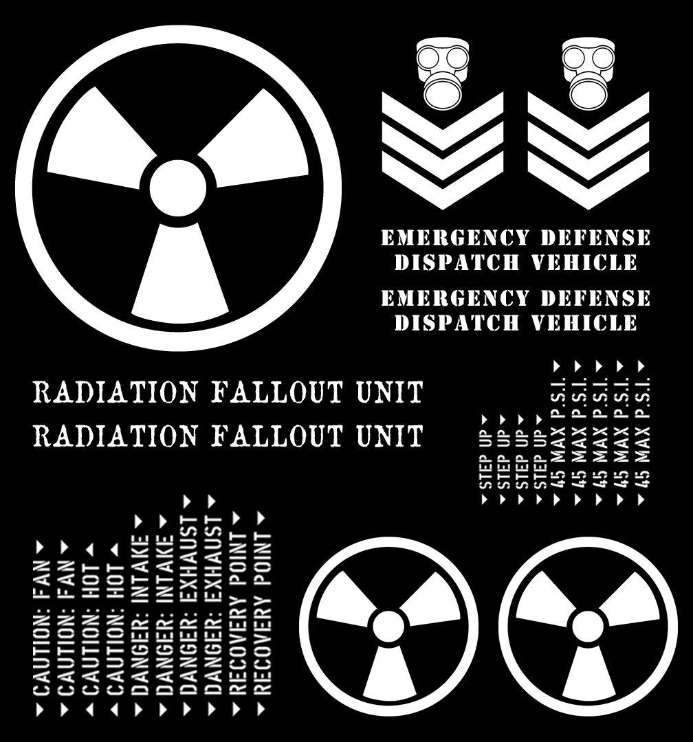 自動Vynamics – theme-rfu-gwhi – グロスホワイトビニールRadiation Falloutユニットテーマパッケージ – Complete ( 30 ) Pieceキット – ジープ& Toyota Wrangler YJ / TJ / LJ / JK / JKU、チェロキーXJ ,グランドチェロキーZJ / WJ / WK / wk2、FJクルーザーB00N2DY5RG--