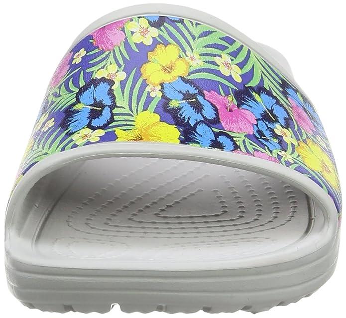 Crocs Sloane Graphic Slide Blu/FLR, Pantofole Donna: Amazon.it: Scarpe e  borse