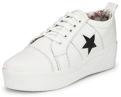 Buy Flooristo High Sole White Sneakers