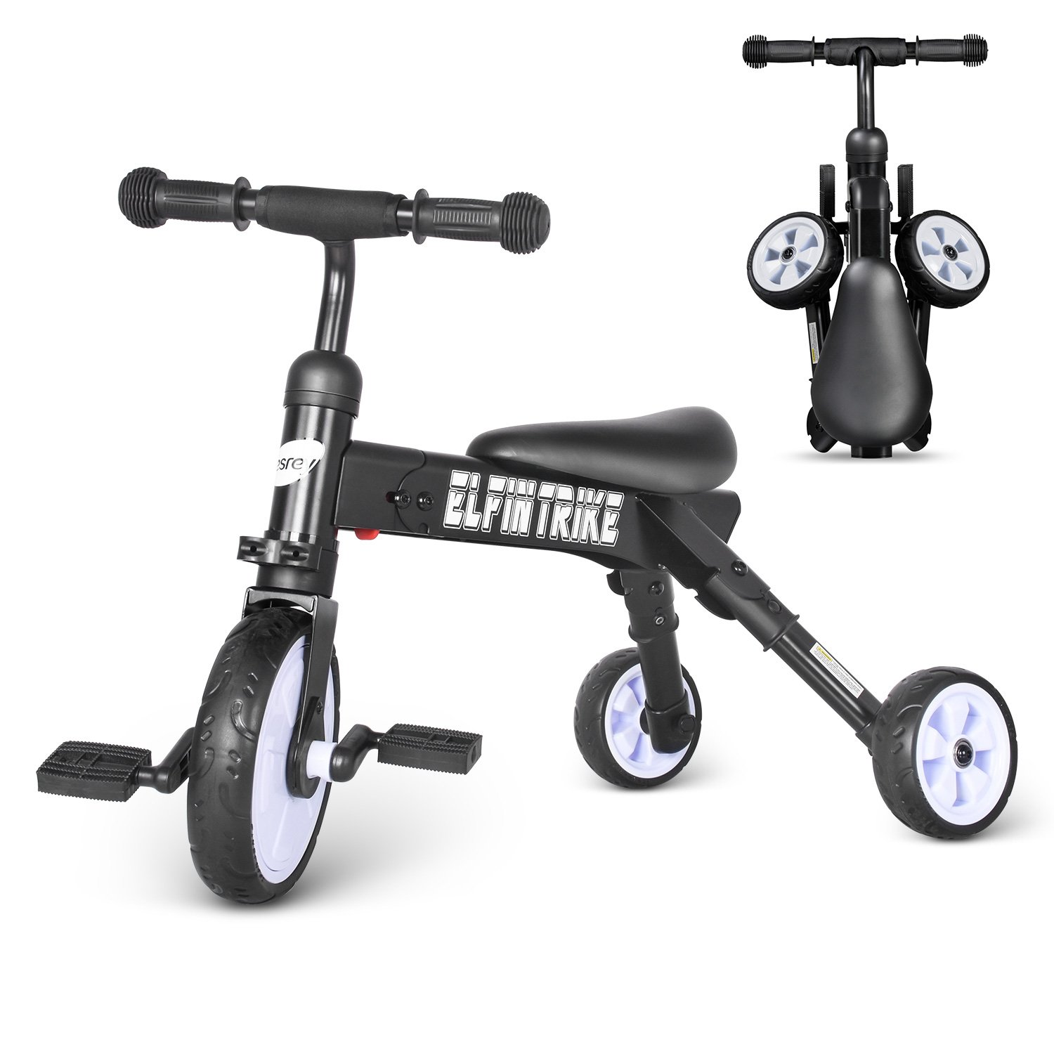 besrey 3 In 1 Baby Trike /& Toddlers Glide /& Foldable Tricycle BR-C7073