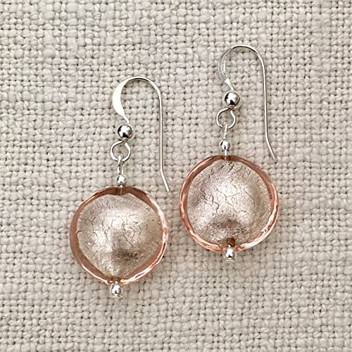 d9a4eacff Diana Ingram champagne (peach, pale pink) Murano glass small lentil ...