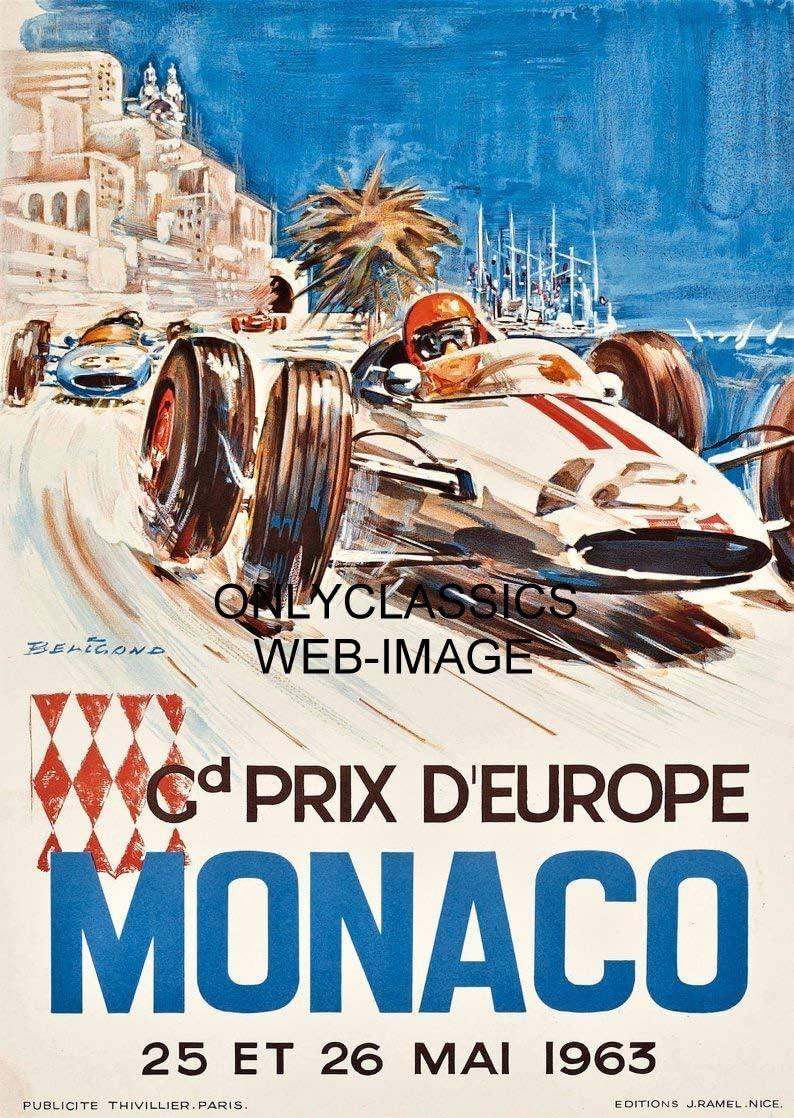 1963 24 Hours Le Mans French Automobile Race Advertisement Vintage Poster 3