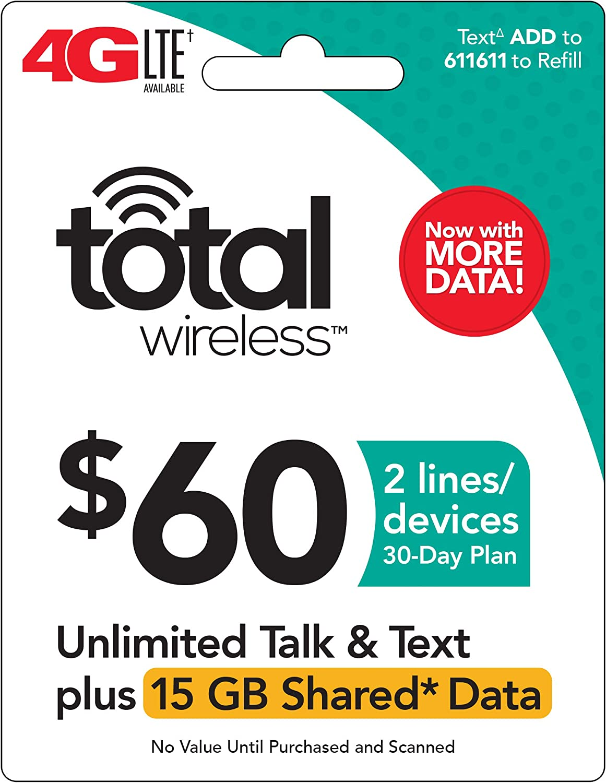 Total Wireless - $60 Prepaid Refill Card