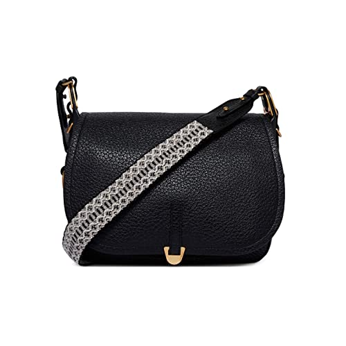 66e4235a44 COCCINELLE Bag FAUVE Female Black - E1CA0150201001: Amazon.co.uk ...
