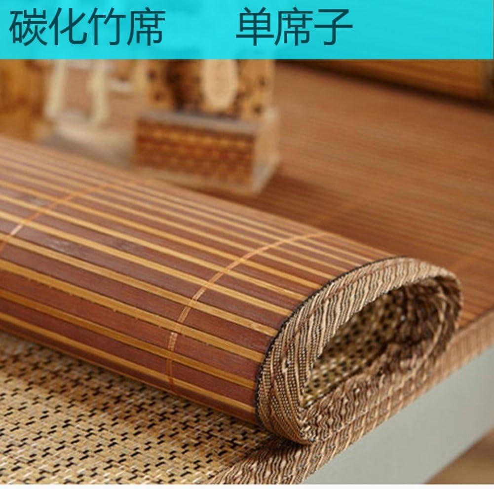 QINQIN Bamboo mat,Single Foldable Cool pad Summer Sleeping mat Mattress Topper-A 90x190cm(35x75inch)