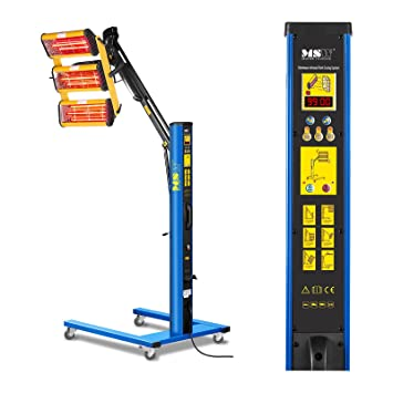 MSW IR-DRYER3000.2 Secador de Pintura Infrarrojo para Carrocería Coche (3300 W