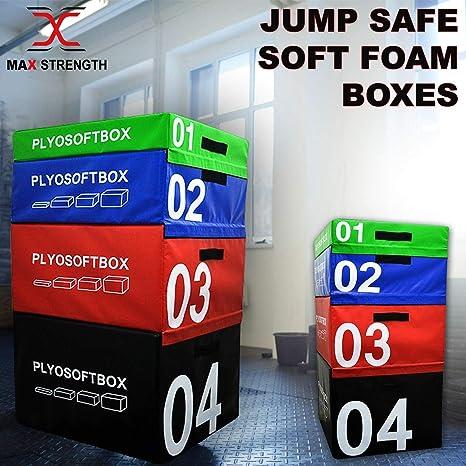 pliométrico salto caja suave espuma Velcro Fitness Crossfit Gym Training saltando Set: Amazon.es: Deportes y aire libre