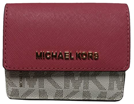 ed97cbbfe4ae Image Unavailable. Image not available for. Color: Michael Kors Jet Set  Travel Card Case Key Holder ...