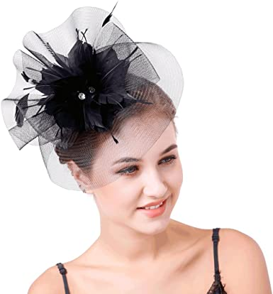 Black Fascinator Hat For Weddings//Ascot//Proms With Headband