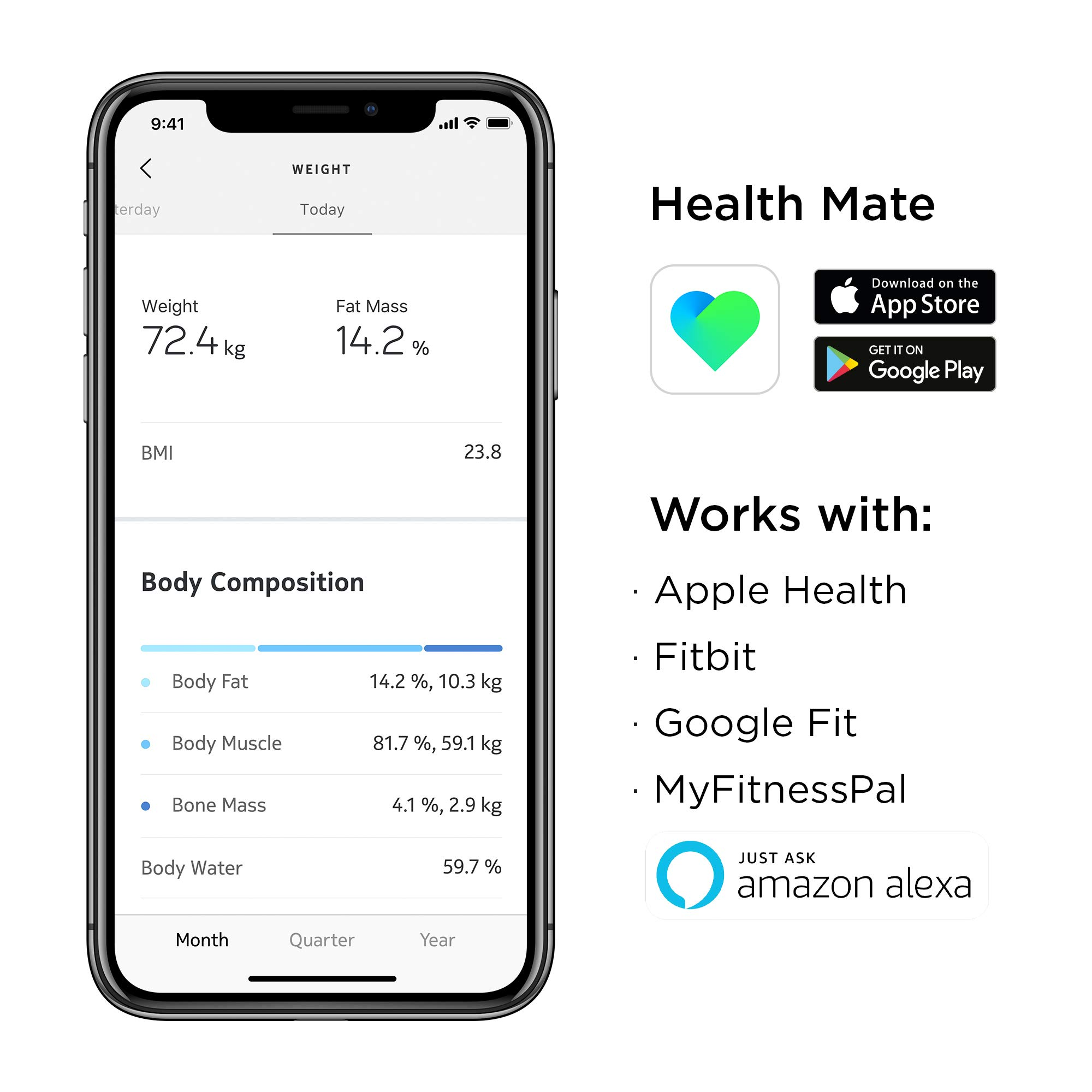 Withings | Body+ - Smart Body Composition Wi-Fi Digital Scale with smartphone app, Green by Withings (Image #1)