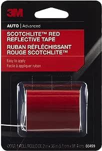 3M 03459C Scotchlite Reflective Tape, 2-Inch x 36-Inch, Red