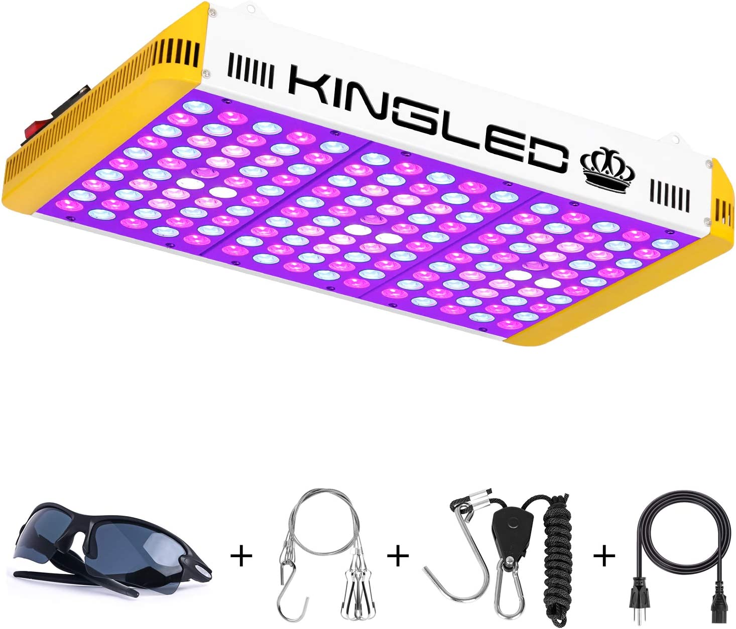 KingLED Reflector Series 1500W LED Grow Light Full Spectrum for Indoor Plants Veg and Flower