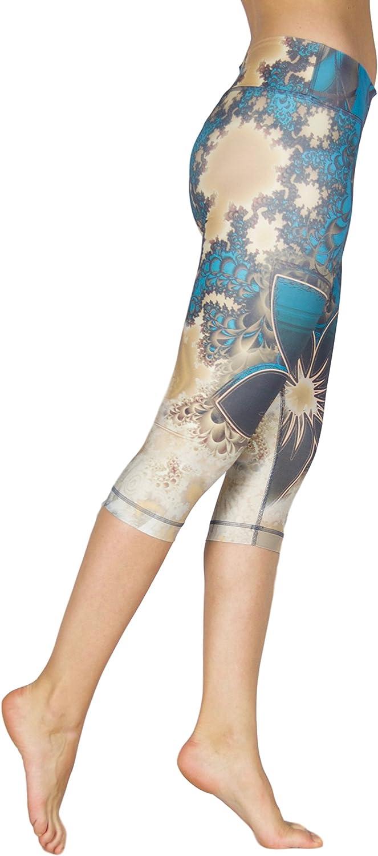 Compression Legging. Unique Capri Yoga Pant for Women Princess Shaping