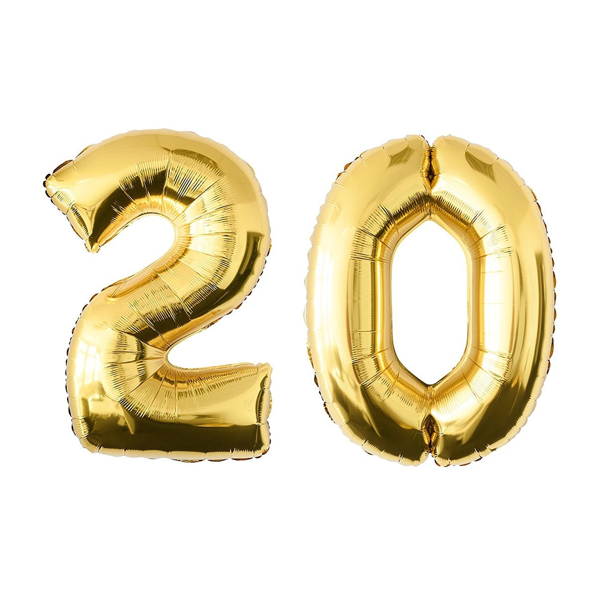 NUOLUX 52.49 Inch Gold Foil Balloon, Jumbo Number 30th Balloon for Festival Birthday Anniversary Party Decorations Photo Props
