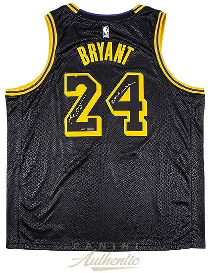 new concept 8d391 0231c Kobe Bryant Autographed Signed Memorabilia Inscribed Black ...