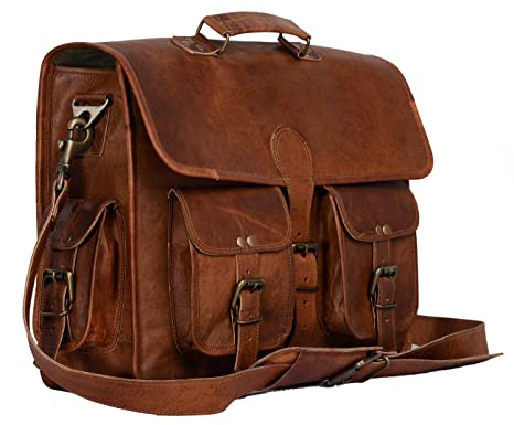Image Unavailable. Image not available for. Color  Leather briefcase laptop bag  messenger ... d58d815c81c6e