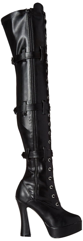 Pleaser Women's Ele3028/b/pu Boot B00HE7ITXW 13 B(M) US|Black Strap Faux Leather/Black Matte