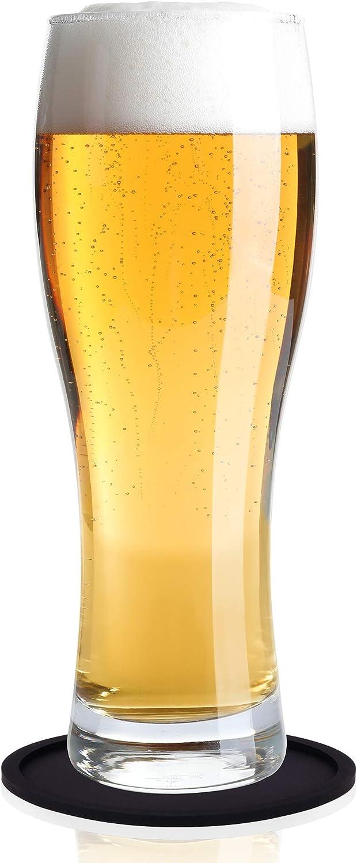 Tapis de boissons r/ésistants /à la chaleur le verre Garantie /à vie la pierre y compris le bois Lot de 8 dessous-de-verre par BIBO Prot/ège toutes les surfaces de la table London le marbre