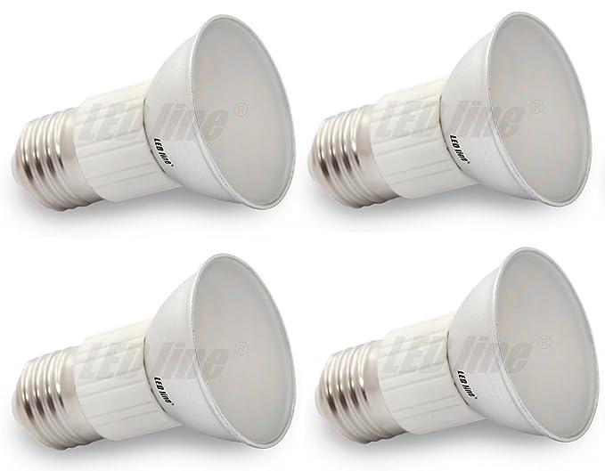 Juego de 4 marcas Bombilla LED Line® 27 LED E27 bombilla, SMD5630, 5