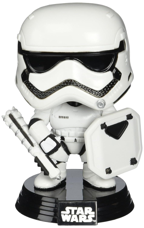 Star Wars 6408 Borla de Pop. Pop 7 EXC E7 TFA Primera Orden Stormtrooper con Escudo