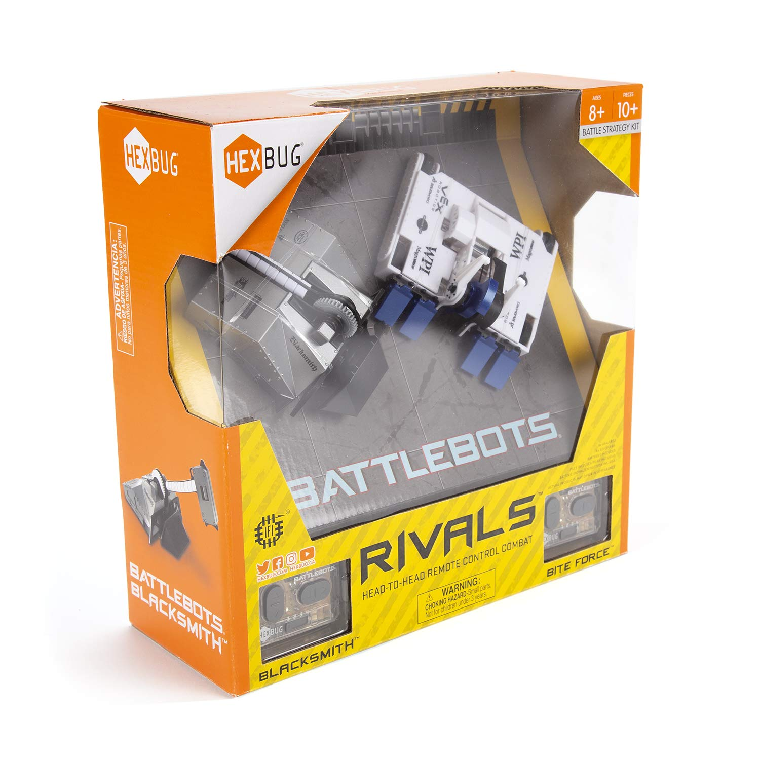 HEXBUG BattleBots Rivals 4.0 (Blacksmith and Biteforce) Toys for Kids, Fun Battle Bot Hex Bugs Black Smith and Bite Force by HEXBUG (Image #5)