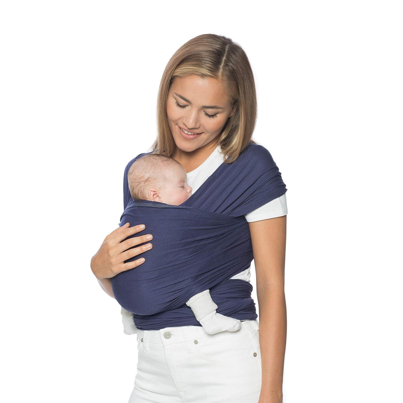 Ergobaby Fular Portabebes Elastico Recién Nacidos hasta 11kg, Aura Wrap Indigo WLAINDIGO
