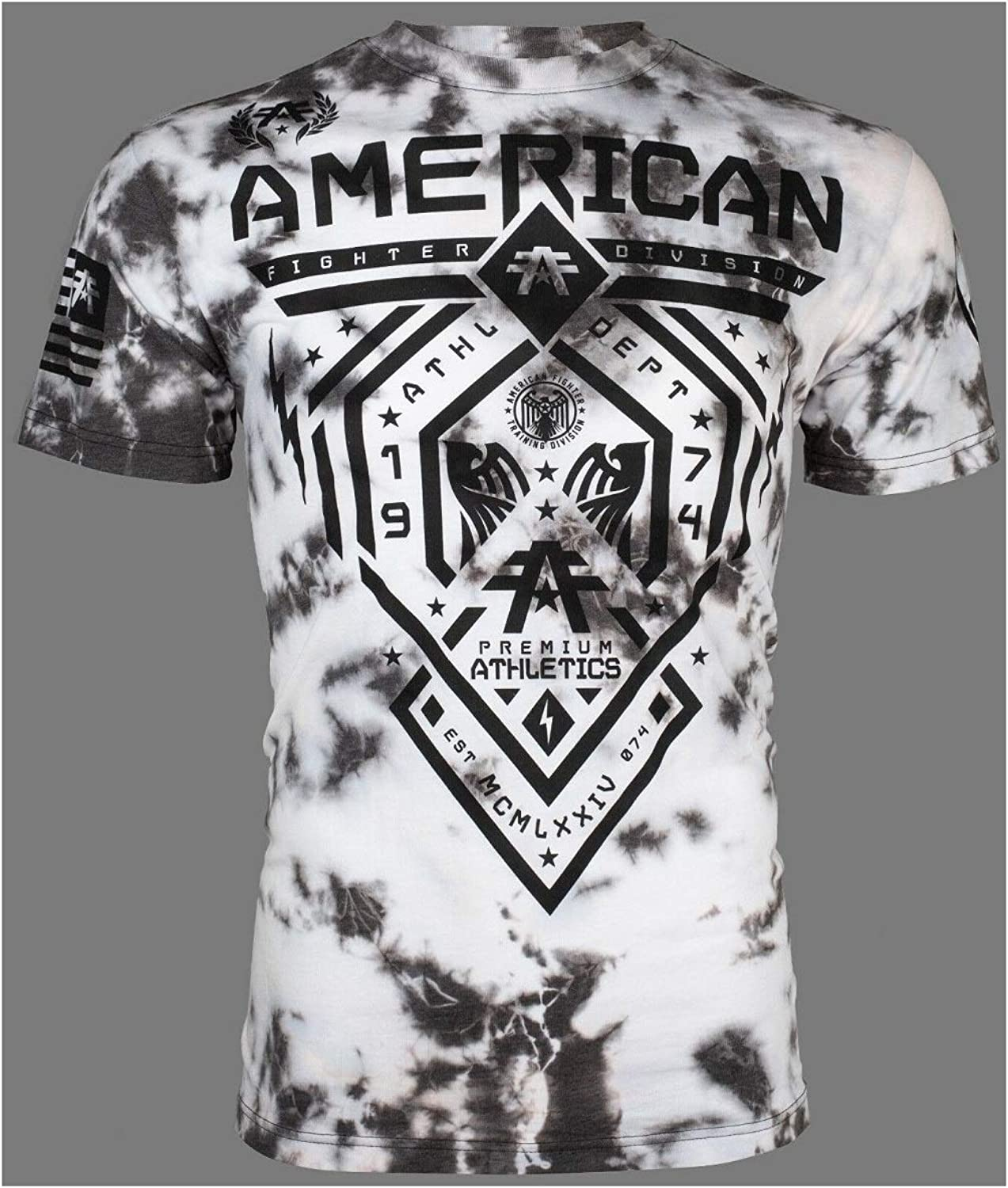 American Fighter Men T-Shirt Fairbanks Athletic Black Rusted RED Gym UFC