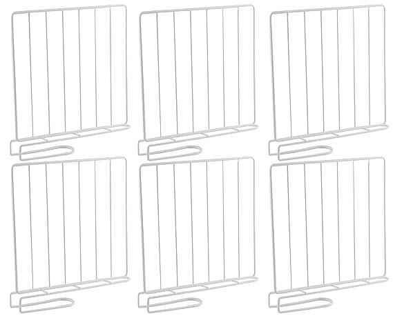 6er Set Regaltrenner Schrankteiler Schrankaufteiler Schrankeinteiler 26x24,5cm